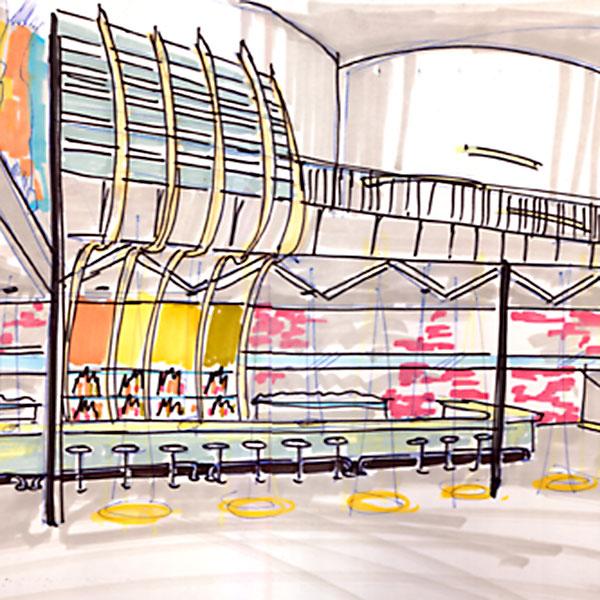 Rise Danceclub Lounge Restaurant Custom Repurposed Metalwork Wood Interior Design Found Oblects Recycled Shike Denver Colorado_600x6008 Dancefloor Bar Sketch on Club Interior Design
