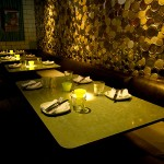 Interior desgin photos of the inside of Root Down Restaruant, designed by Shike Design