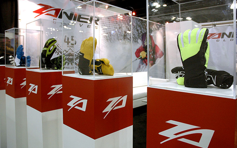 Zanier Sport - SIA trade show booth custom designed by Shike Design