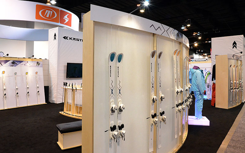 Kastle Ski DESIGNS - SIA trade show booth custom designed by Shike Design Kastle Skis Custom Booth Design - SIA trade show booth custom designed by Shike Design