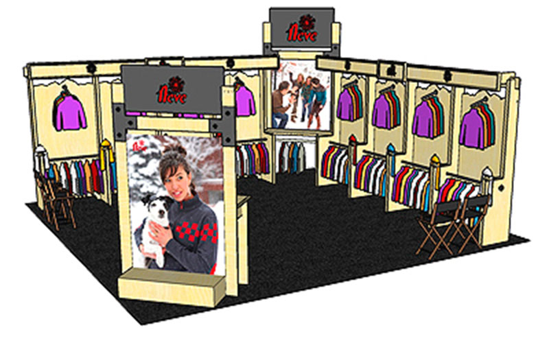 NEVE DESIGNS - SIA trade show booth custom designed by Shike Design